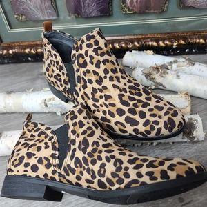 Dr. Scholl's leopard print bootie